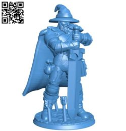 DND warrior man B004167 file stl free download 3D Model for CNC and 3d printer