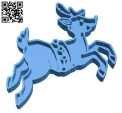 Deer cookie cutter Mold B004327 file stl free download 3D Model for CNC and 3d printer