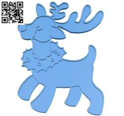 Deer ornament B004351 file stl free download 3D Model for CNC and 3d printer
