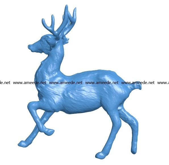 Deer statuette B003873 file stl free download 3D Model for CNC and 3d printer