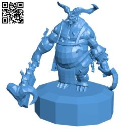 Diablo The Butcher orc B004354 file stl free download 3D Model for CNC and 3d printer