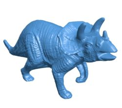Dinosaur Triceratops realistic B004026 file stl free download 3D Model for CNC and 3d printer