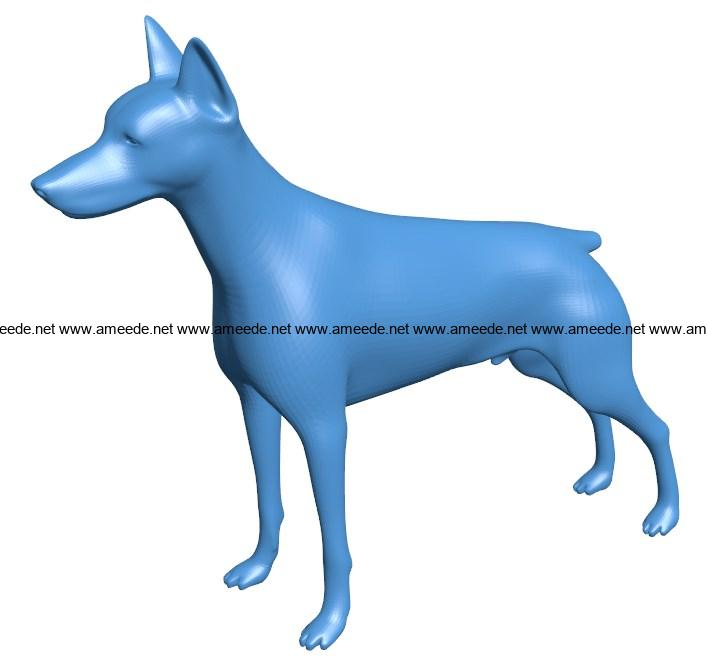 Doberman Pinscher Dog B003914 file stl free download 3D Model for CNC and 3d printer