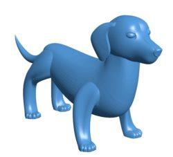 Dog B003846 file stl free download 3D Model for CNC and 3d printer
