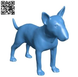 Dog bull terrier B004380 file stl free download 3D Model for CNC and 3d printer