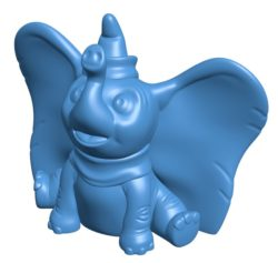 Dumbo in hat B003921 file stl free download 3D Model for CNC and 3d printer