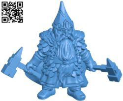 Dwarf with hammers B004311 file stl free download 3D Model for CNC and 3d printer