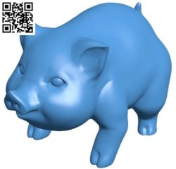 Fat pig B004348 file stl free download 3D Model for CNC and 3d printer