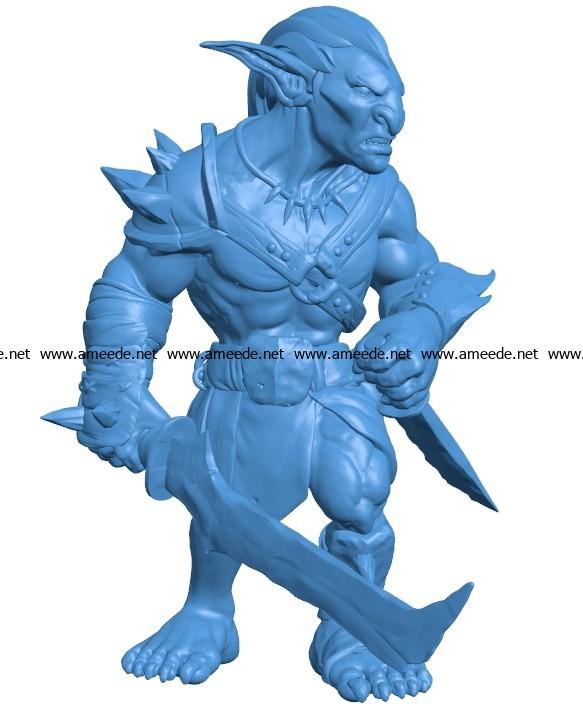 Goblin Man B003782 file stl free download 3D Model for CNC and 3d printer