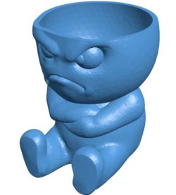 Grumpy Egg Planter Cup B003798 file stl free download 3D Model for CNC and 3d printer