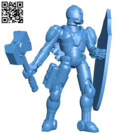 Guard robot B004381 file stl free download 3D Model for CNC and 3d printer