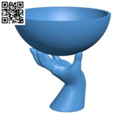 Hand holding plant B004168 file stl free download 3D Model for CNC and 3d printer