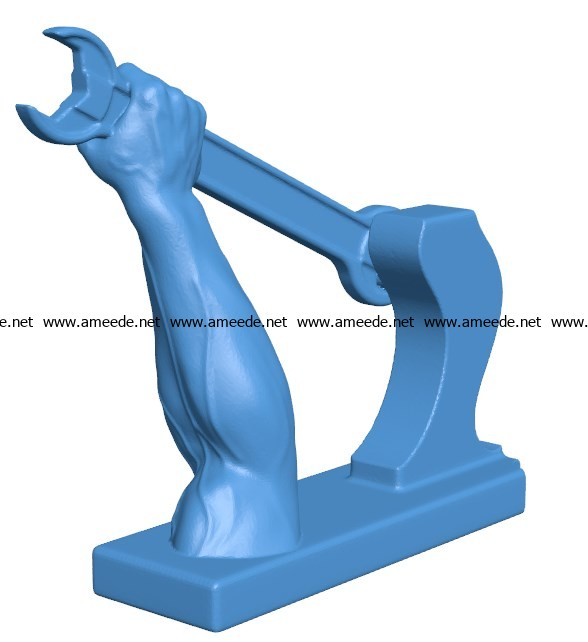 Handle steampunk B003874 file stl free download 3D Model for CNC and 3d printer