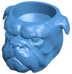 Head Bowl Bull dog B003966 file stl free download 3D Model for CNC and 3d printer