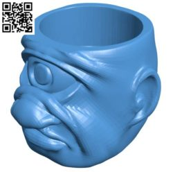 Head Bowl Cyclops Pen Plug B004180 file stl free download 3D Model for CNC and 3d printer