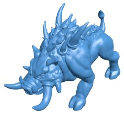 Hell boar B003824 file stl free download 3D Model for CNC and 3d printer