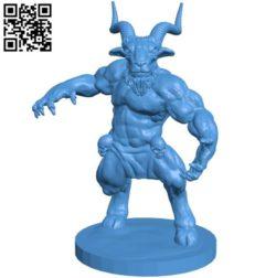 Horned god man B004187 file stl free download 3D Model for CNC and 3d printer