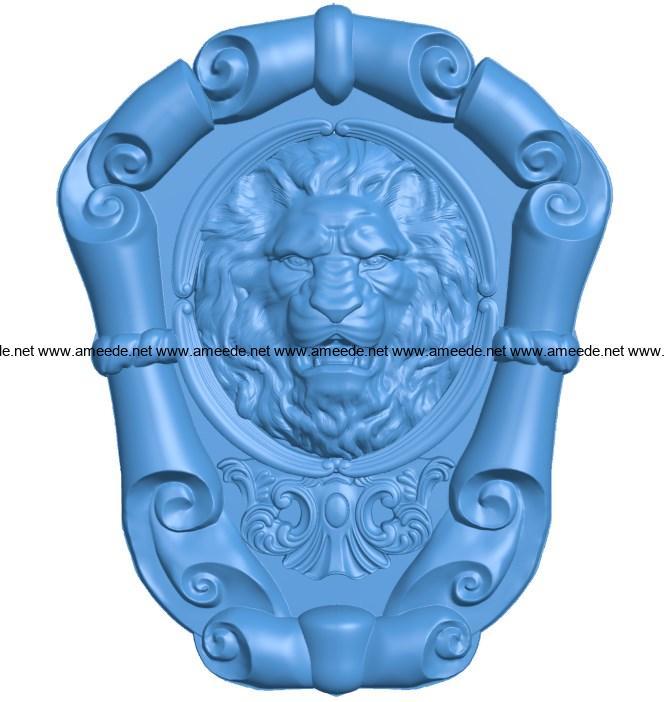 Lion frame B003970 file stl free download 3D Model for CNC and 3d printer