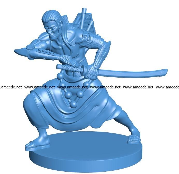 Man Engine Samurai B003877 file stl free download 3D Model for CNC and 3d printer