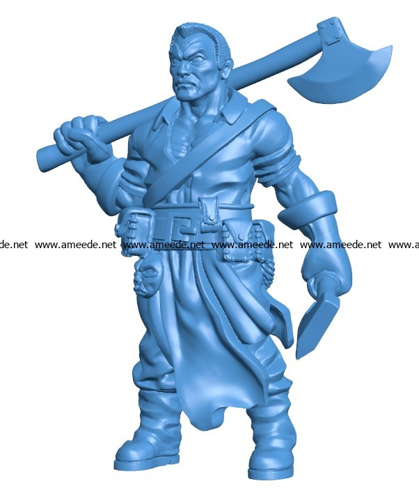 Man Huntsmen B003828 file stl free download 3D Model for CNC and 3d printer