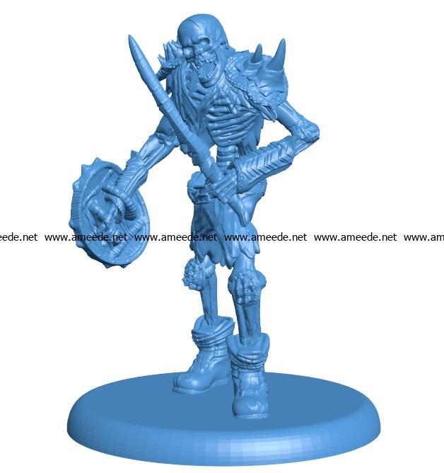 Man Skeleton B003827 file stl free download 3D Model for CNC and 3d printer