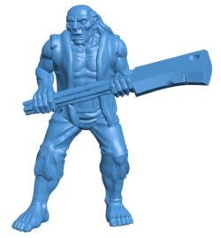 Man Zombie B003834 file stl free download 3D Model for CNC and 3d printer