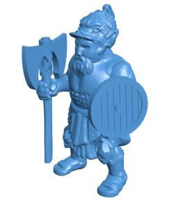 Man dwarf guard B003857 file stl free download 3D Model for CNC and 3d printer