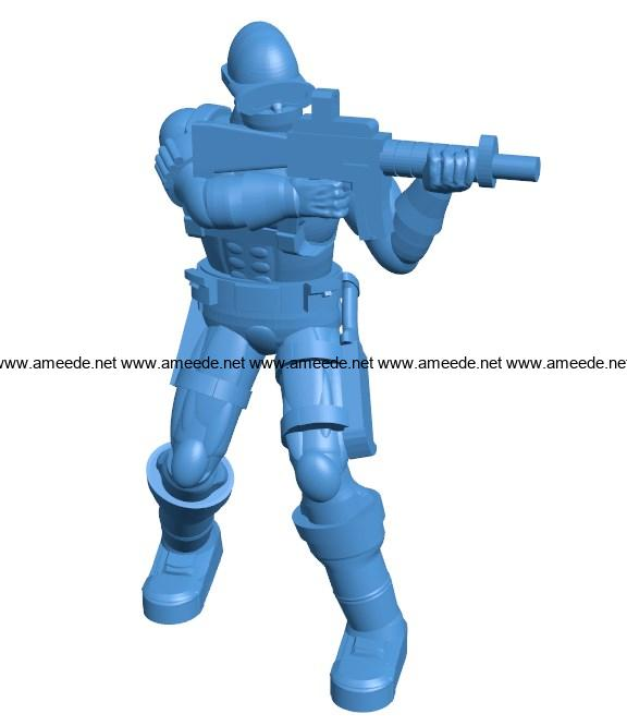 Man support soldier B004119 file stl free download 3D Model for CNC and 3d printer