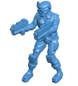 Men sci-fi warrior B004097 file stl free download 3D Model for CNC and 3d printer