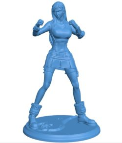 Miss tifa combat stance B003784 file stl free download 3D Model for CNC and 3d printer