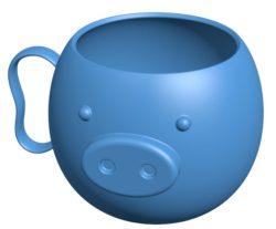 Mons piggy mug B004130 file stl free download 3D Model for CNC and 3d printer