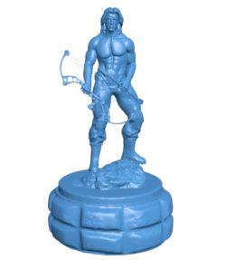 Mr Rambo B003808 file stl free download 3D Model for CNC and 3d printer