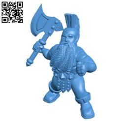 Mr dwarf berzerker B004382 file stl free download 3D Model for CNC and 3d printer