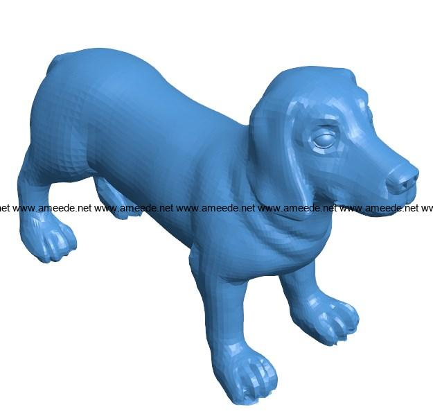 Nimble dog B004020 file stl free download 3D Model for CNC and 3d printer