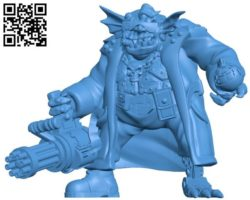 Orc man B004357 file stl free download 3D Model for CNC and 3d printer