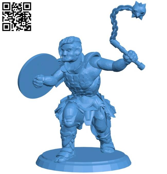 Orc soldier B004230 file stl free download 3D Model for CNC and 3d printer