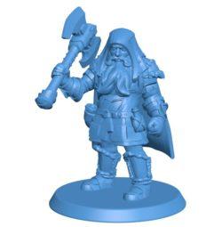 Orin Dwarf Lycanthrope Barbarian Men B003928 file stl free download 3D Model for CNC and 3d printer