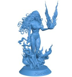 Phoenix Women B004101 file stl free download 3D Model for CNC and 3d printer