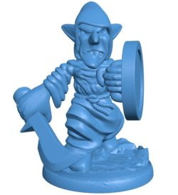 Robed Goblin Man B003805 file stl free download 3D Model for CNC and 3d printer