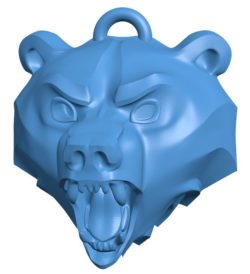School of the Bear Medallion B004019 file stl free download 3D Model for CNC and 3d printer