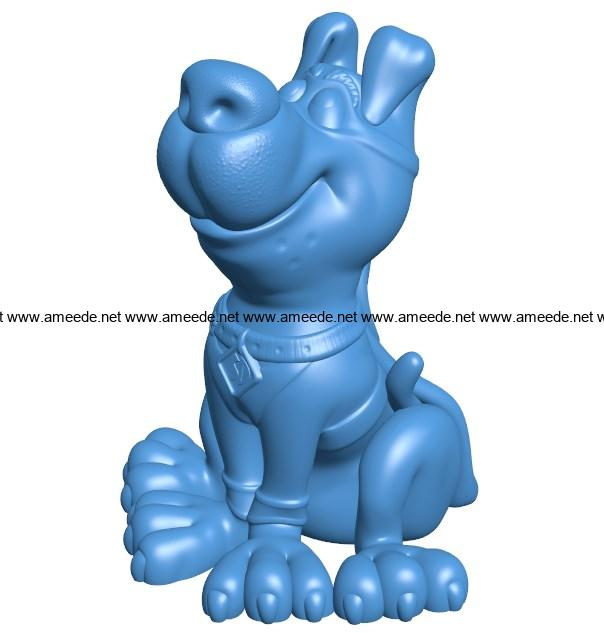 Scooby Dog B004038 file stl free download 3D Model for CNC and 3d printer