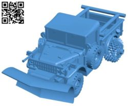 Scrapper Truck B004368 file stl free download 3D Model for CNC and 3d printer