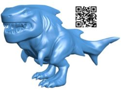 Shark Rex Print B004247 file stl free download 3D Model for CNC and 3d printer