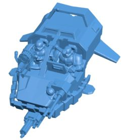 Ship land speeder tornado B003859 file stl free download 3D Model for CNC and 3d printer