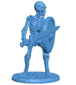 Skelly Short Sword and Shield B003892 file stl free download 3D Model for CNC and 3d printer