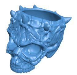 Skull DM B004128 file stl free download 3D Model for CNC and 3d printer