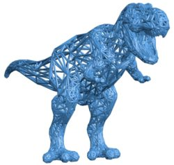T-Rex decor dinosaurs B003843 file stl free download 3D Model for CNC and 3d printer