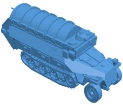 Tank Sdkfz 251 AE86 B003865 file stl free download 3D Model for CNC and 3d printer