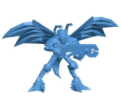 Tau Vespid Warrior B004033 file stl free download 3D Model for CNC and 3d printer