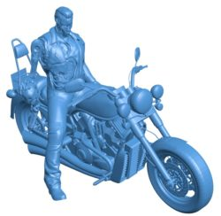 Terminator on Bike B004087 file stl free download 3D Model for CNC and 3d printer